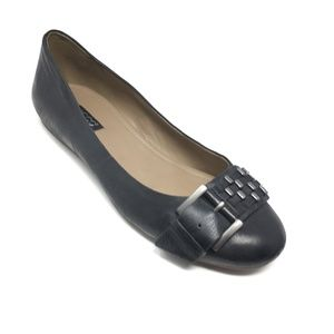 NEW Ecco Ballet Flats Shoes Size 40 EU/9-9.5 Black